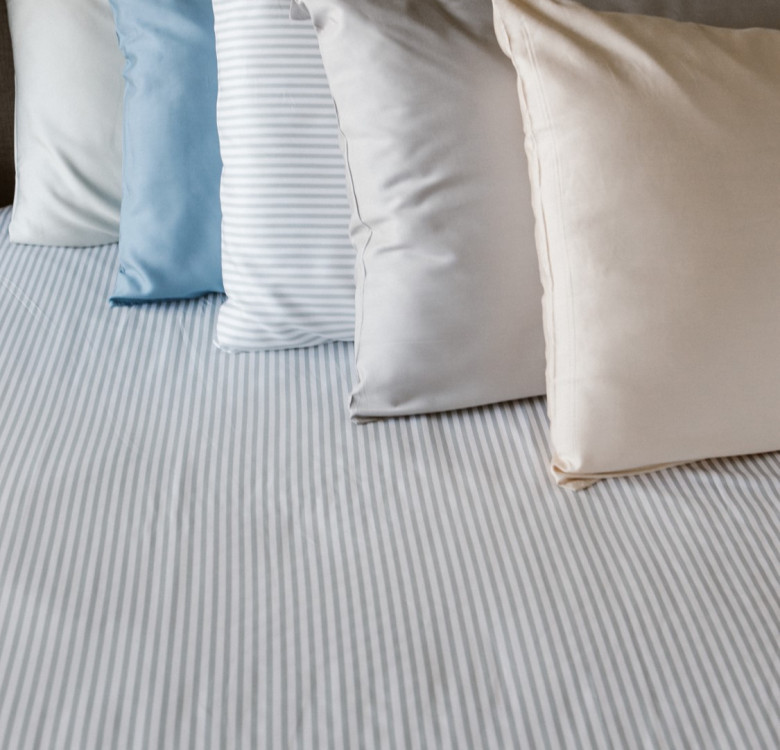 3-Piece Premium Bamboo Luxury Sheet Set (Steel Blue)