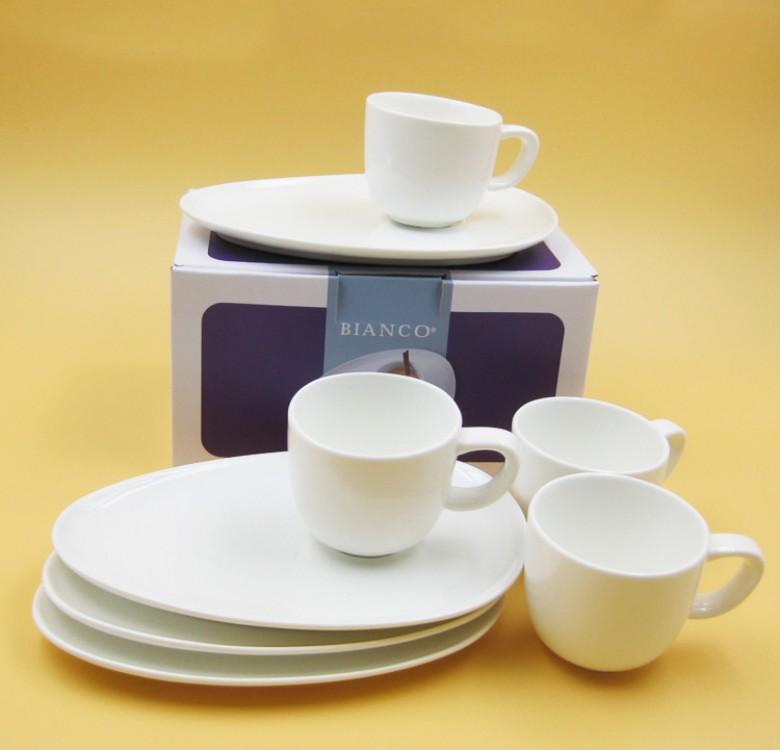 Bianco Espresso Cup & Saucer Set