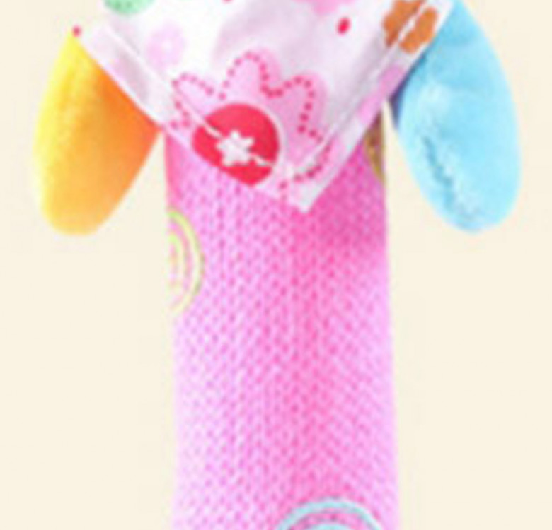 Plush Animal Knitted Rattle