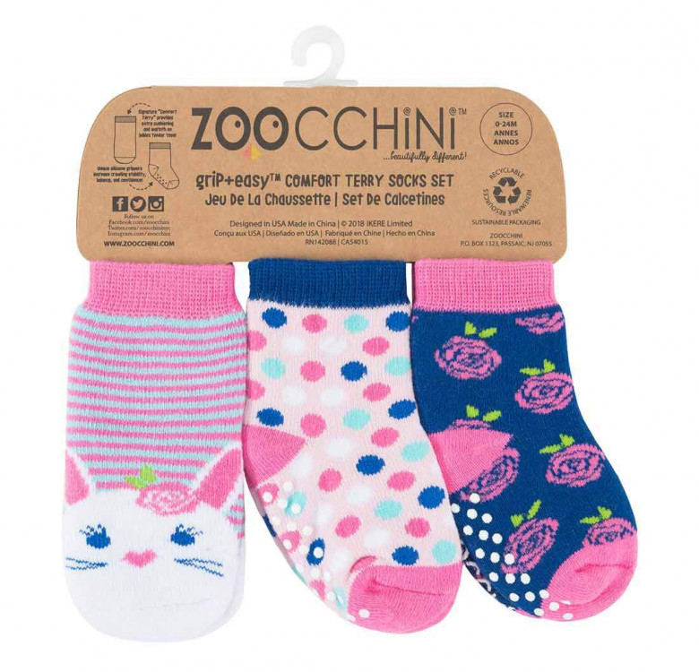 Beatrice the Bunny Baby Comfort Grip Socks (Set of 3)