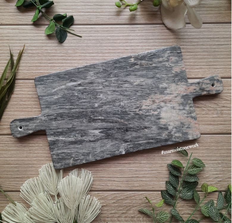 Marble Cheeseboard with Double Handles