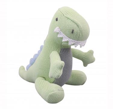 Truman the T-Rex Hand-knit Cotton Doll