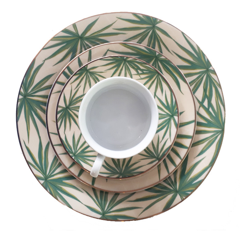 Solihiya Anahaw Teacup & Saucer Set