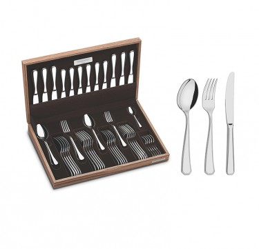 Sonata 42-Piece Flatware Set with Wooden Chest