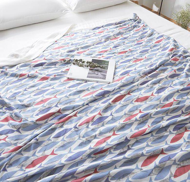 Bamboo Muslin Throw Blanket