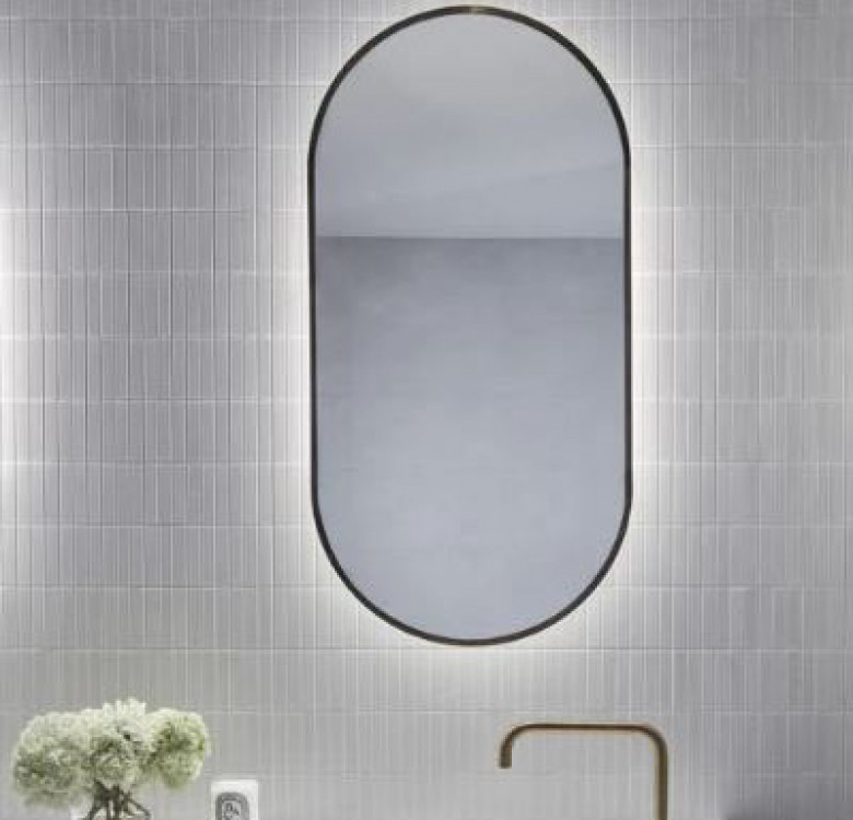 Carrie Oval Gold Mirror
