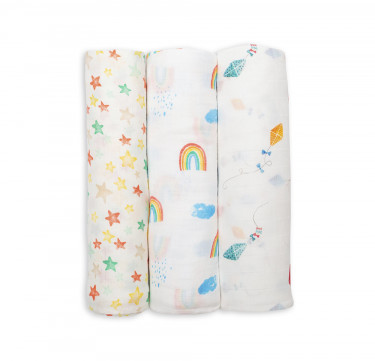 High in the Sky Bamboo Muslin (Set of 3)