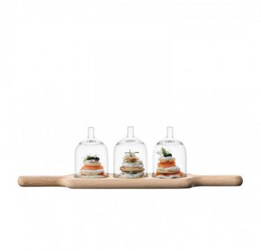 45cm Paddle Dome Trio & Oak Paddle
