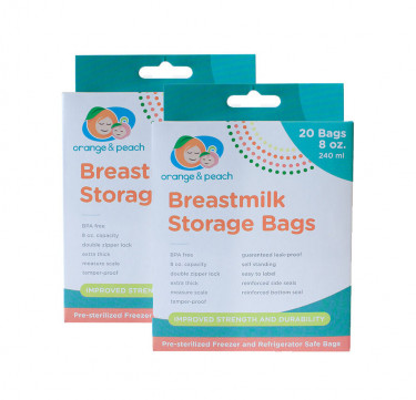8oz. Breastmilk Storage Bags (Bundle of 2)