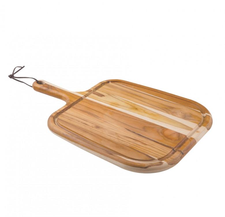Teak Wood Steak Serving Board with Handle