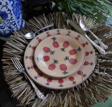Pineapple Solihiya Dessert Plates