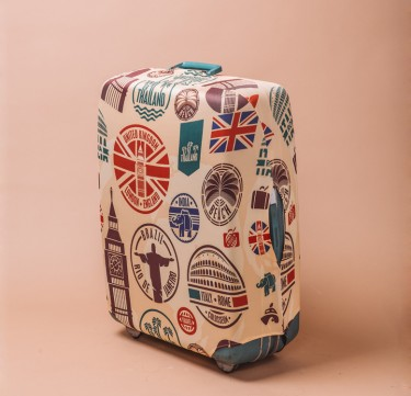 Country Stamps Luggage Cover
