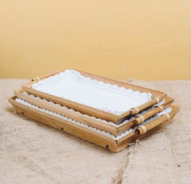 Rectangular Set of Trays