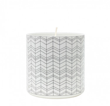 Geo Filled Candle in Morgen Cup