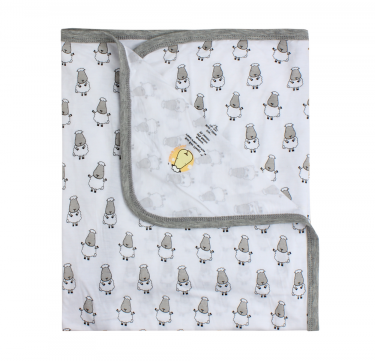 Single Layer Baby Blanket (Small Sheepz)