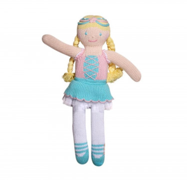 Emma the Gallant Princess Hand-knit Cotton Doll