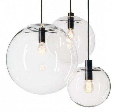 Lisa Glass Black Pendant Light