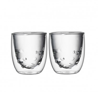 Elements Double Wall Glass - Water (Set of 2)