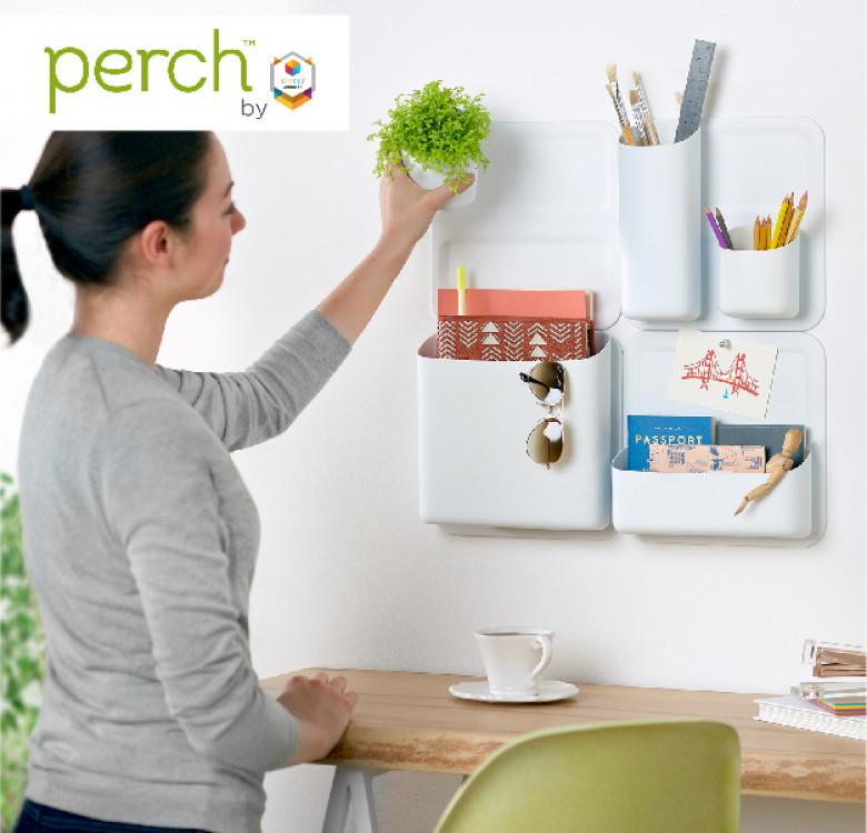 Perch Pack of 2 Mini Wally Magnetic Wall Base