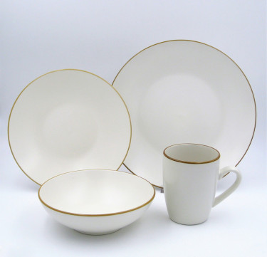 16-Piece Montana White Dinner Set