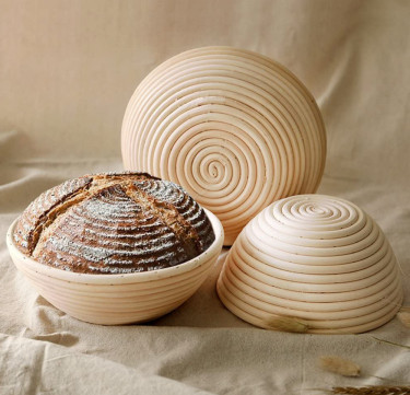 Round Bread Proofing Basket with Liner