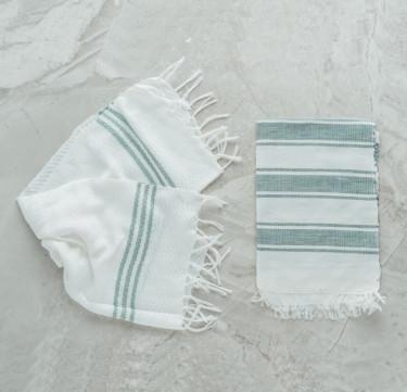 Forest Green Fingertip Towels