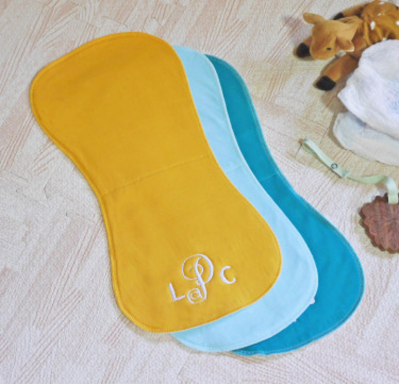 Set of 3 Personalised Burp Cloth