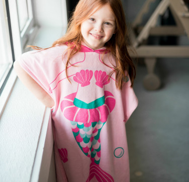 Marietta the Mermaid Hooded Poncho (Kids)