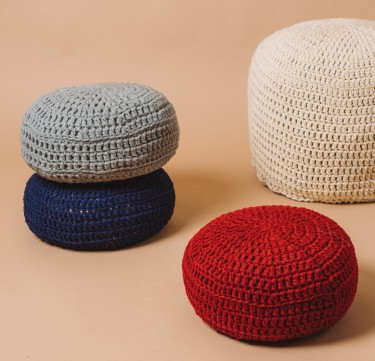Small Pouf - Neutrals