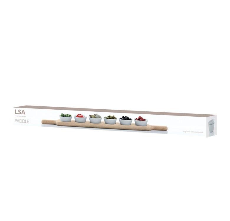 77cm Paddle Long Bowl Set & Oak Paddle
