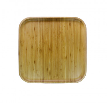 England Bamboo Square Plate