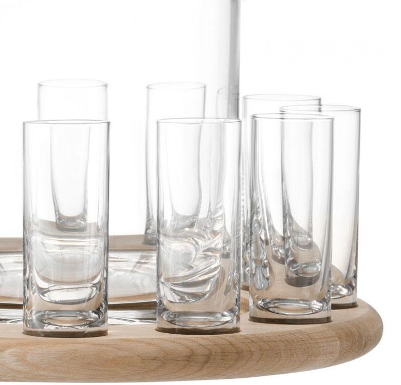 38.5cm Paddle Vodka Serving Set & Oak Paddle