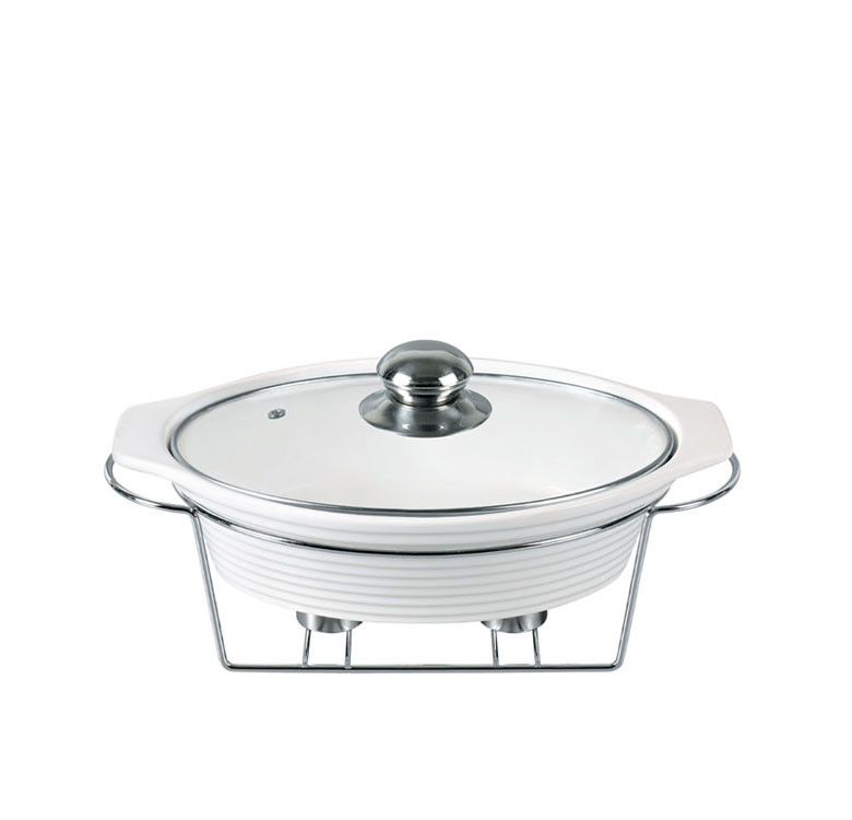 Oval Casserole + Candle Stand