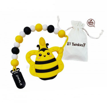 Teether with Clip-on (Bee)