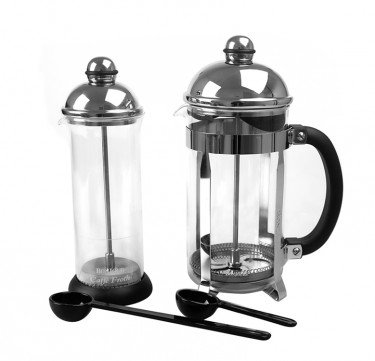 French Press and Milk Frother Set