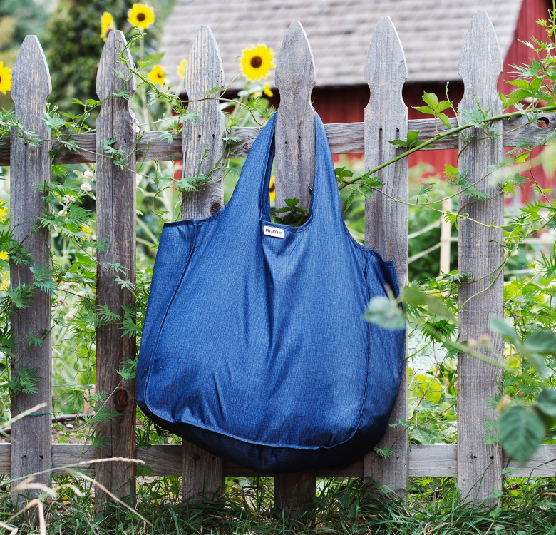 Foldable Tote (Heather Denim)