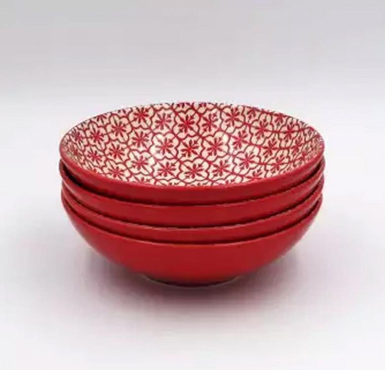 16-Piece Mosaic Coral Stoneware Dinnerware Set