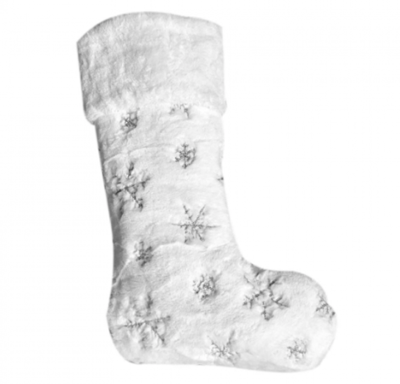 Luxury Personalised Snowflake Stocking