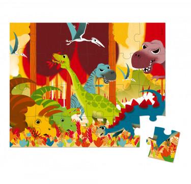 Hat Boxed Puzzle Dinosaurs 24 pieces