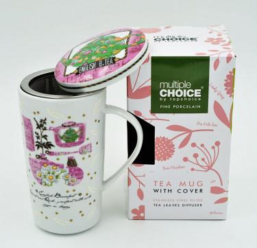 Tea Mug with Strainer and Cover (English Tea)