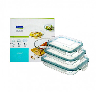 3-Piece Rectangle Plus Type Food Keeper