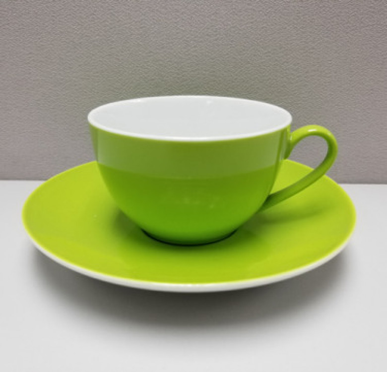 12-Piece Tea Cup and Saucer (Candy Green)