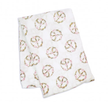Peace Bamboo Swaddling Blanket