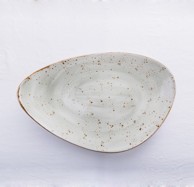 Speckled Stoneware Serving Plate