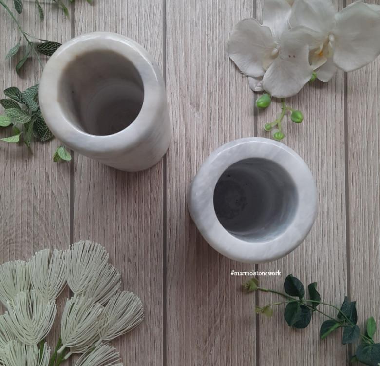 Marble Spiral Vases