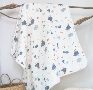 Bears and Woodlands Deluxe Muslin Comforter
