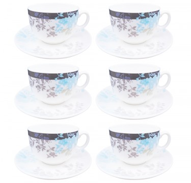 Foliage IV 7oz Cup & 14cm Saucer Set of 6