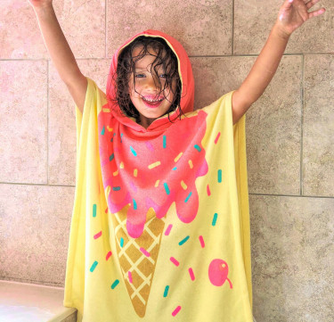 I Scream, You Scream Hooded Poncho (Kids)