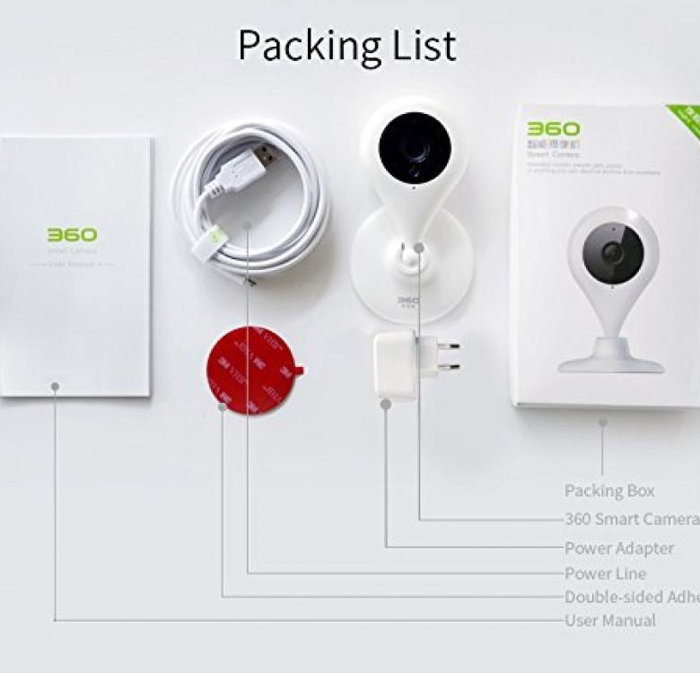 360 Smart Camera 1080p Wide Angle Camera