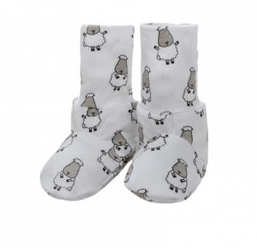 Booties (Small Sheepz, White)